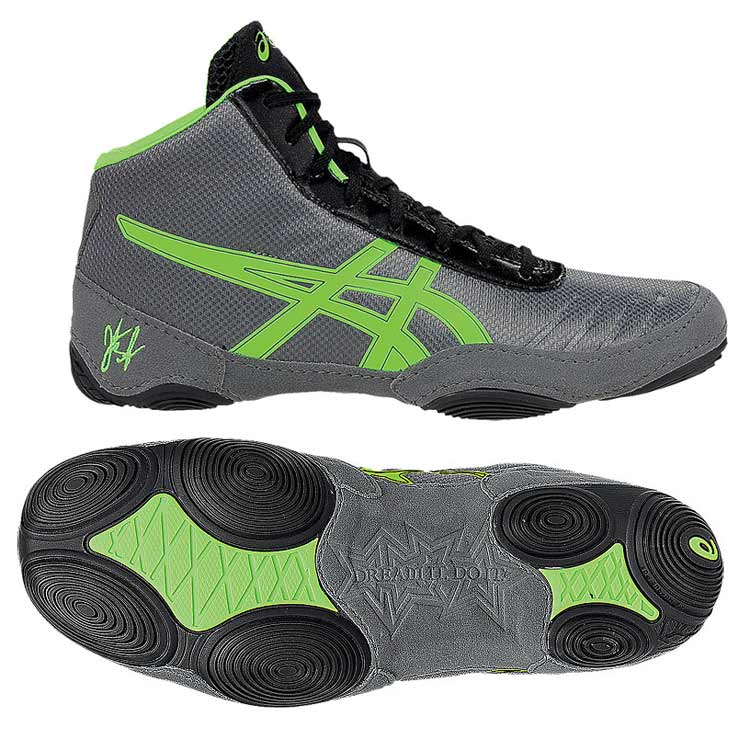 a8b6eb311d18 Asics JB Elite V2.0 Wrestling Shoe - Granite Green. Gecko Black