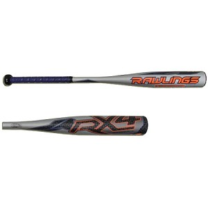 Rawlings RX4 Alloy BBCOR Baseball Bat -3 (2015)